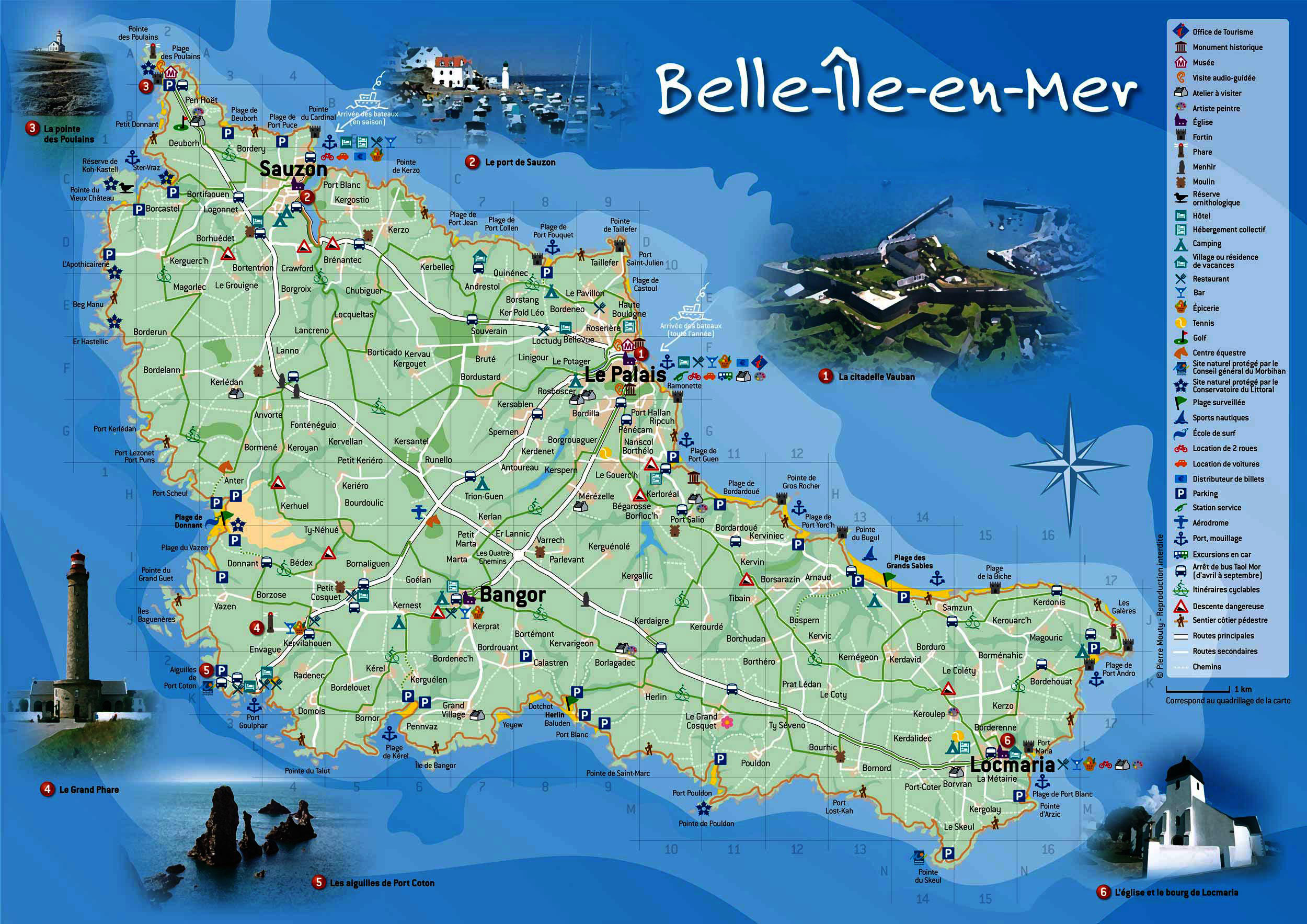 Map of Belle-Ile